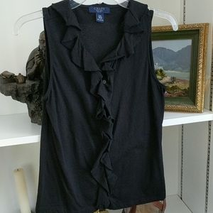 Sleeveless black Chaps blouse